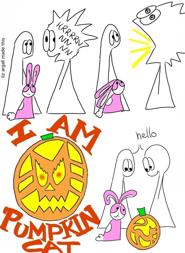 74: Pumpkin Cat Head Part 4
