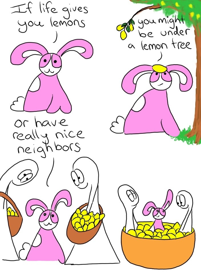 122: Lifestyle advice from a small pink bunny part 5, lemons