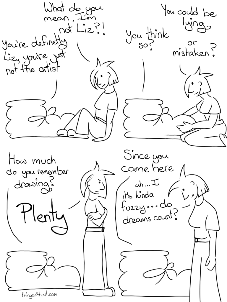 This is a webcomic, there is a transcript below.