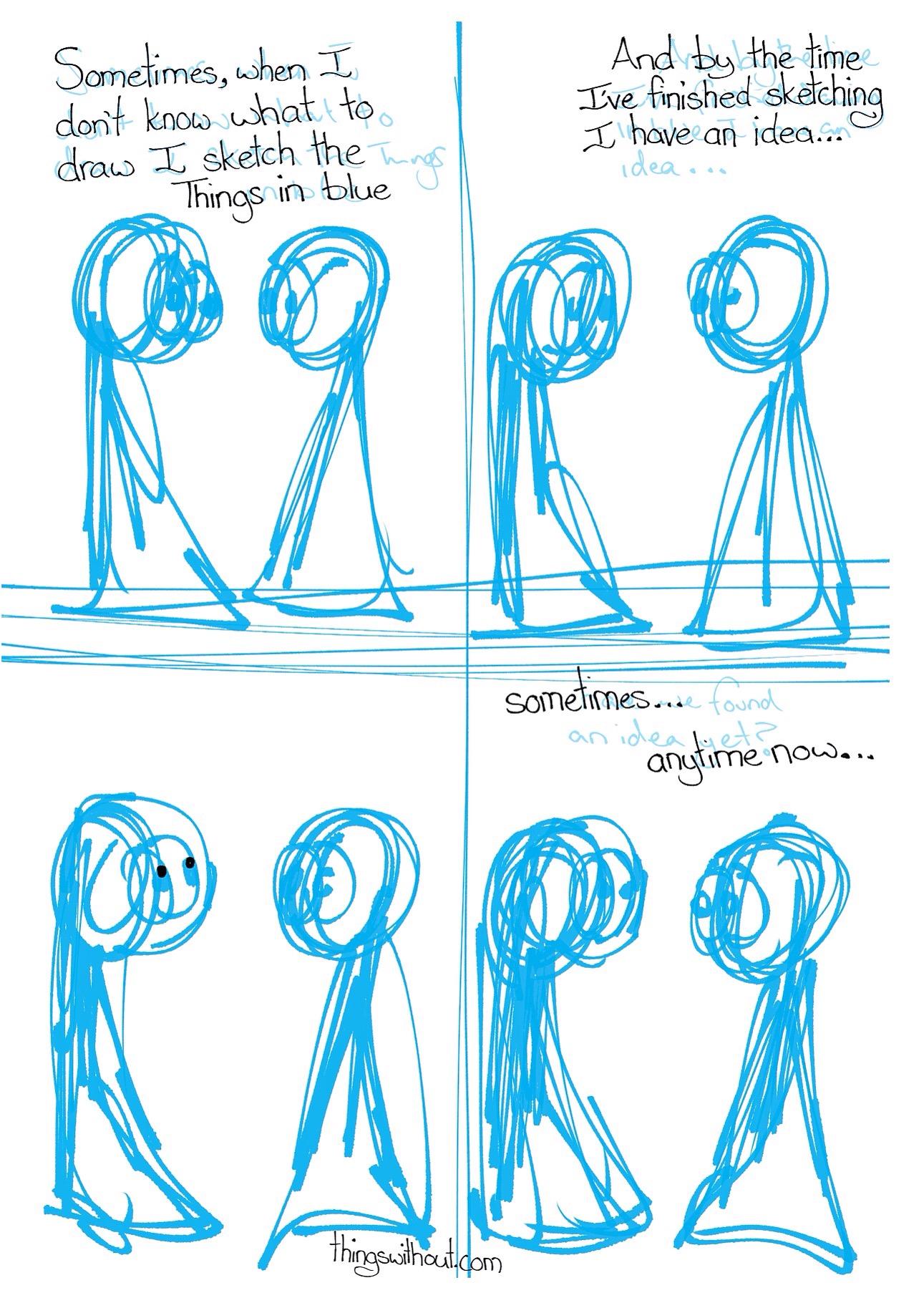 497: sketch in blue